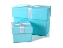 Grote en weinig blauwe doos royalty-vrije stock afbeeldingen