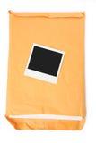 Grote envelop en foto royalty-vrije stock afbeeldingen