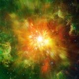 Grote explosie in ruimte en overblijfselstraling Elementen van dit die beeld door NASA http://www wordt geleverd NASA regering Stock Afbeeldingen