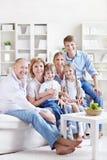 Grote familie Stock Fotografie
