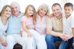 Grote familie Stock Afbeelding