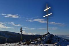 Grote Fatra-bergen - zonnige dag in de vroege winter Stock Afbeeldingen