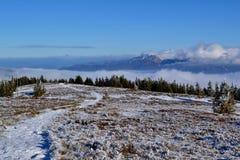 Grote Fatra-bergen - zonnige dag in de vroege winter Royalty-vrije Stock Fotografie