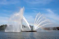 Grote fontein in Minsk Royalty-vrije Stock Afbeelding