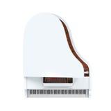 Grote Geïsoleerde Piano Royalty-vrije Stock Afbeelding