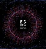 Grote gegevens abstracte vectorvisualisatie Lijnen en puntenserie Grote complexe gegevensverbinding Grafisch fractal element royalty-vrije illustratie