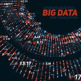 Grote gegevens cirkelvisualisatie Futuristische infographic Informatie esthetisch ontwerp Visuele gegevensingewikkeldheid Royalty-vrije Stock Afbeelding