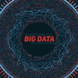 Grote gegevens cirkelvisualisatie Futuristische infographic Informatie esthetisch ontwerp Visuele gegevensingewikkeldheid Stock Foto