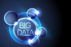 Grote gegevens en melkweg, Digitale mededeling, conceptensamenvatting backg stock illustratie