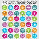 Grote gegevenspictogrammen Stock Afbeeldingen