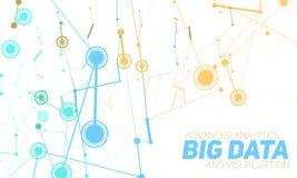 Grote gegevensvisualisatie Futuristische infographic Informatie esthetisch ontwerp Visuele gegevensingewikkeldheid Stock Foto