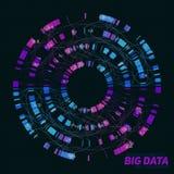 Grote gegevensvisualisatie Futuristische infographic Informatie esthetisch ontwerp Visuele gegevensingewikkeldheid Stock Foto's