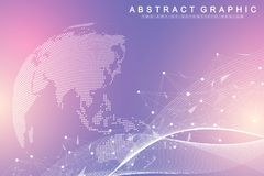 Grote gegevensvisualisatie Grafische abstracte mededeling als achtergrond Perspectiefachtergrond Minimale serie Digitale gegevens stock illustratie