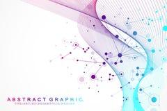Grote gegevensvisualisatie Kunstmatige intelligentie en Machine het Leren Concept Grafische abstracte mededeling als achtergrond royalty-vrije illustratie