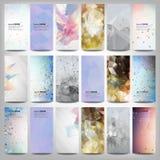Grote gekleurde abstracte geplaatste banners Conceptueel Royalty-vrije Stock Foto's
