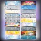 Grote gekleurde abstracte geplaatste banners Conceptueel Stock Afbeelding