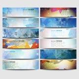 Grote gekleurde abstracte geplaatste banners Conceptueel Royalty-vrije Stock Afbeeldingen