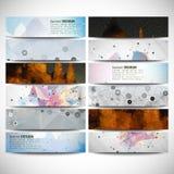 Grote gekleurde abstracte geplaatste banners Conceptueel Stock Foto