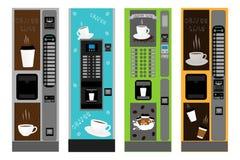Grote gekleurde reeks verschillende types koffiemachine vector illustratie