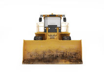 Grote gele bulldozer royalty-vrije illustratie