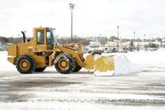 Grote Gele Ploeg 2 van de Sneeuw royalty-vrije stock afbeelding
