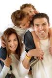 Grote, gelukkige familie Stock Foto's