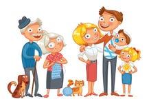 Grote gelukkige familie Stock Afbeeldingen