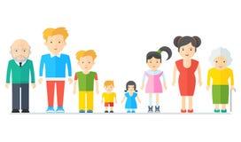 Grote gelukkige familie vector illustratie