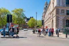 Grote George Street en het Parlement Straat, Londen het UK Royalty-vrije Stock Afbeelding