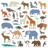 Grote geplaatste dieren Royalty-vrije Stock Fotografie