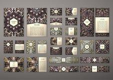 Grote geplaatste malplaatjes Royalty-vrije Stock Afbeeldingen