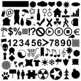 Grote geplaatste pictogrammen Royalty-vrije Stock Foto's