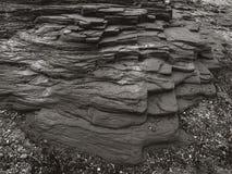 Grote geweven rots in sepia royalty-vrije stock fotografie