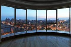 Cityscape venster Stock Foto's