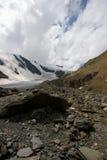 Grote gletsjer Aktru stock foto's