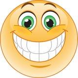 Grote glimlach emoticon Stock Afbeeldingen