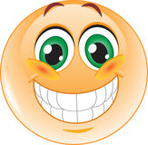 Grote glimlach emoticon Stock Fotografie