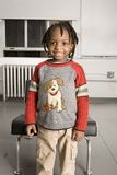 Grote glimlach van een kleine jongen royalty-vrije stock foto's