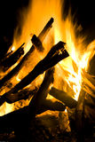 Grote gloed van bale-fire Royalty-vrije Stock Fotografie