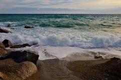 Grote golven in Catanzaro Lido Stock Fotografie