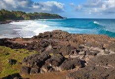 Grote golven. De kaap van Gris van Gris op Zuiden van Mauritius. Royalty-vrije Stock Afbeelding