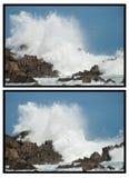 Grote golven die neer verpletteren Stock Afbeelding