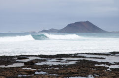 Grote golven (het overzees zwelt) Royalty-vrije Stock Foto