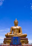 Grote Gouden Boedha van Thailand Royalty-vrije Stock Foto's