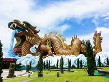 Grote gouden draak Stock Fotografie