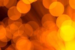Grote Gouden Lichten Abstracte Achtergrond Stock Afbeelding