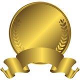 Grote gouden medaille (vector) Stock Foto