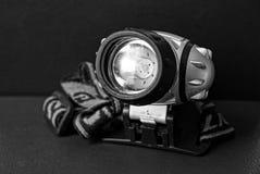 Grote grijze koplamp voor verlichting op de lijst royalty-vrije stock fotografie