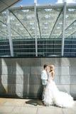 Grote grijze muur Stock Fotografie