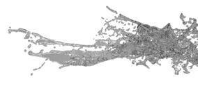 Grote grijze plonsen in langzame motie Gekleurd water vector illustratie
